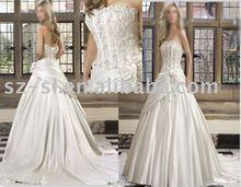 Appliqued bridal wear apparel sl-1748