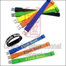 customize Bracelet usb pendrive, fashion promotional gift wristband usb thumb drive