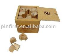Wood Educational Kids Alphabet Blocks with Wooden Large BoxToy