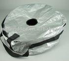 PE tyre bag set silver color