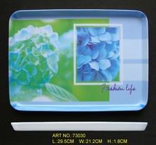 plastic serving trays, melamine trays, print trays