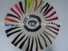 high quality and accurate human remy sample hair chart/ color ring
