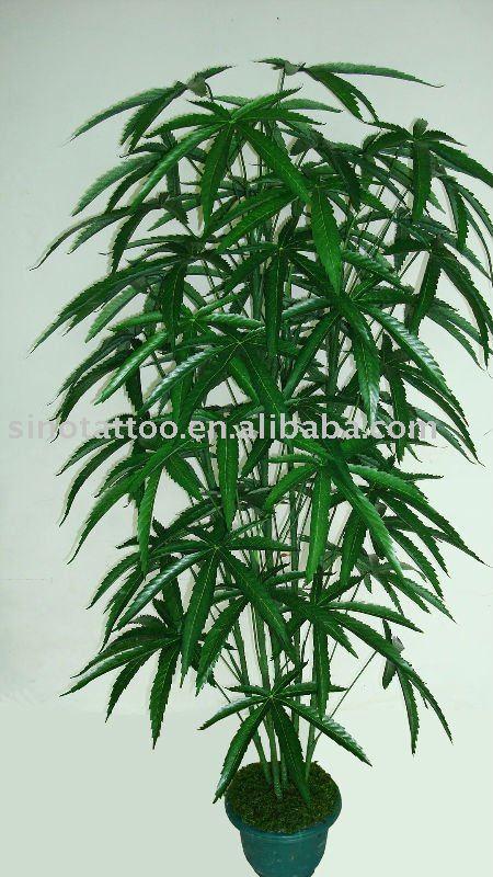 See larger image: Tattoo Stuio,Imitation Plant,9Branches Cannabis Bushes
