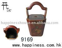 Antique leather teapot bucket