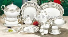 75pcs dinner set with half design