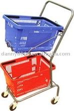 luxury model supermarket basket on trolley(DN-18)