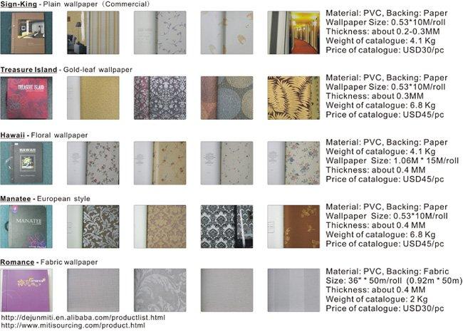 wallpaper catalogue. sell wallpaper wallcovering