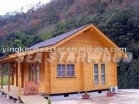 pine log house