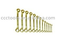 Non Sparking Double box wrench set safety tools cooper , Al-Br, Be-Cu Brass Bronze hammer slogging wrench