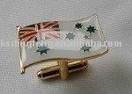 Flag metal cuff link
