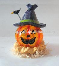 Polyresin halloween pumpkin solar light decorations craft