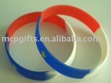 imprint 100% silicon rubber bracelet
