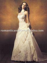 high neck wedding dress 2012
