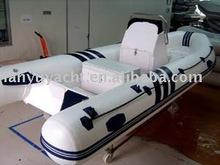 rigid rib fiberglass inflatable motor boat