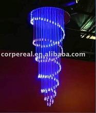 Optic fiber chandelier for private decoration