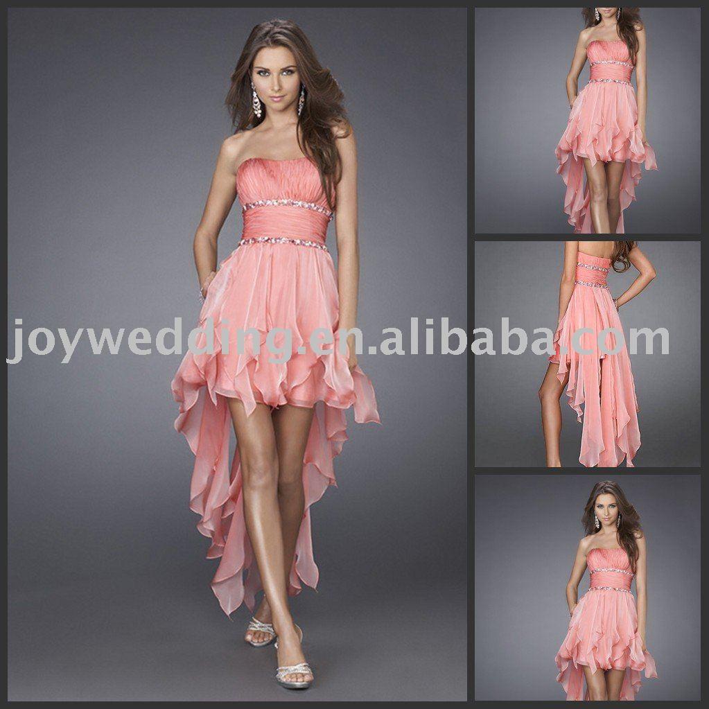 Eg0465 Free Shipping Popular New Short Pink Lady Evening Dress