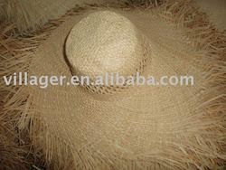 natural colour raffia straw hat body