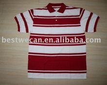 men's engineering stripe pique polo shirt