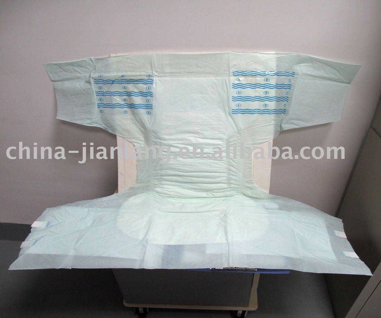 Disposable Adult Diaper Adult Diaper PE Tape, Wet Indicator