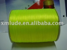 "1/8"" satin ribbon in lime green color"
