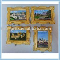 Souvenir,resin frame shape magnet