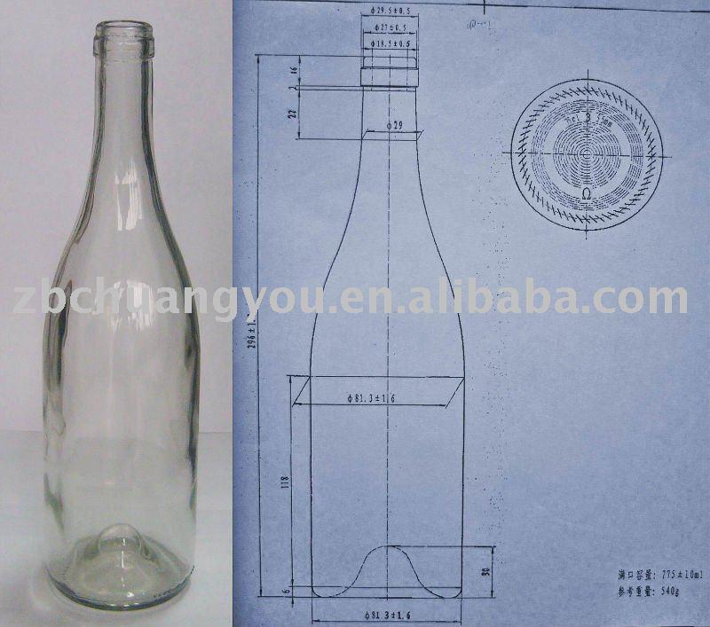 750 Ml Bottle Dimensions