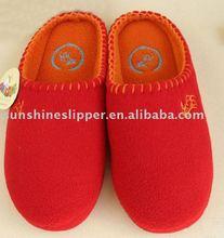 Warm and soft winter custom polar fleece slippers