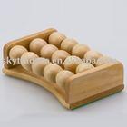 Wooden ball small foot massager
