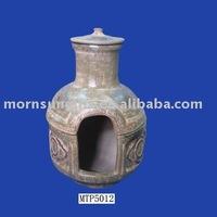 customized terracotta cap chimenea