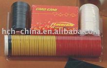 100 pc poker chip set In Blister Packing