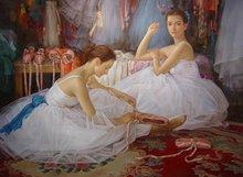 dancing girls portrait oil painting ytrwz03