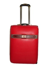 leather travel trolley luggage