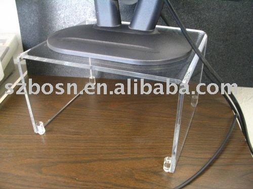 Acrylique porte tv plexiglas meuble tv lucite bureau d for Meuble porte ordinateur