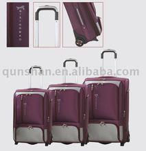 purple trolley luggage