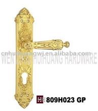 809H023 GP zinc alloy gold plate door handle