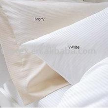 hotel bedding linen/satin stripe fabric for bedding sets/bedsheet fabric