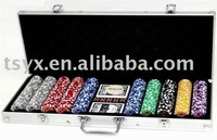 500pc ABS poker chip set