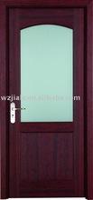 Glass decorative interior door for bathroom / kitchen