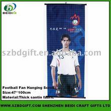 Football Fan Hanging scroll