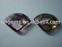 Colorful glass parachute shaped cubic zirconia