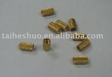 knurled brass insert