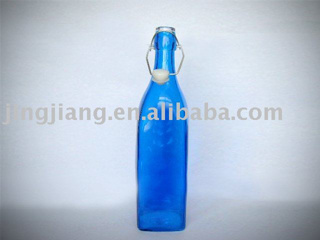 glass water bottles. Colored glass water bottle