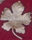 cast metal leaves