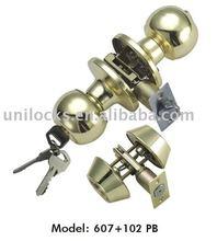 Zinc Alloy Plated Cylindrical Knob Lock