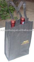 Nonwoven wine bottle carrier bag