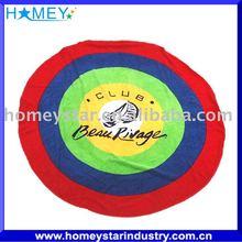 100% cotton reactive printed round beach towel