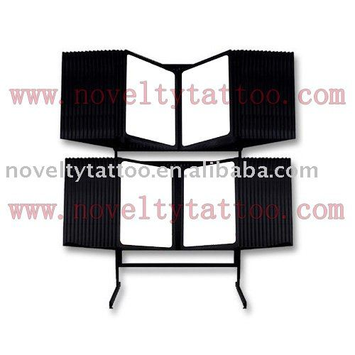 See larger image: Tattoo Supply Floor Unit Tattoo Flash Rack - 2 Tier