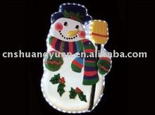 Decorative christmas light snowman