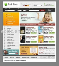 Web Page Design, Book E-commerce Website Design Service (Rent or Buyout), one year free modification