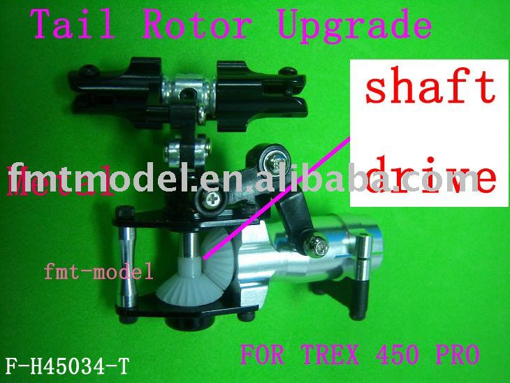 F00258, F-H45034-T Metal Tail Rotor Upgrade For ALIGN T-REX TREX 450 PRO + accept Paypal